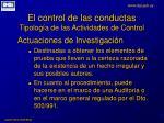 el control de las conductas tipolog a de las actividades de control6