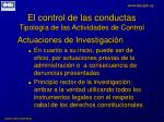el control de las conductas tipolog a de las actividades de control7