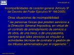 incompatibilidades de car cter general art culo 9 del decreto del poder ejecutivo n 166 20051