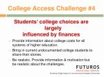 college access challenge 4