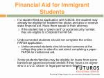 financial aid for immigrant students