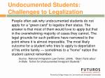 undocumented students challenges to legalization