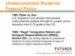 undocumented students federal policy