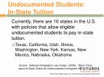 undocumented students in state tuition