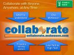 collaborate with anyone anywhere at any time