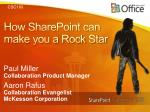 how sharepoint can make you a rock star