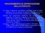 procedimento di approvazione dello statuto