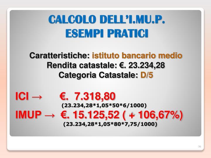 CALCOLO DELL'