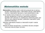 matemati ka metoda