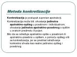 metoda konkretizacije