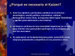 porqu es necesario el kaizen