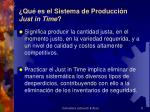 qu es el sistema de producci n just in time