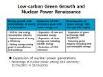 low carbon green growth and nuclear power renaissance