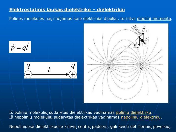 Elektrostatinis laukas dielektrike – dielektrikai