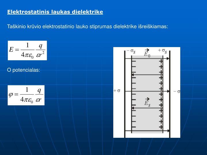 Elektrostatinis laukas dielektrike