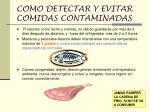 como detectar y evitar comidas contaminadas