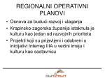 regionalni operativni planovi
