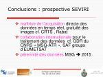 conclusions prospective seviri