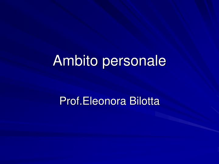 ambito personale n.