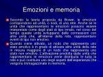 emozioni e memoria