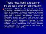 teorie riguardanti la relazione tra processi cognitivi ed emozioni5