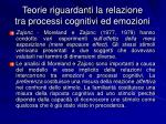 teorie riguardanti la relazione tra processi cognitivi ed emozioni6