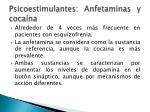 psicoestimulantes anfetaminas y coca na