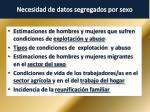 necesidad de datos segregados por sexo3