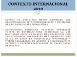 contexto internacional 2010