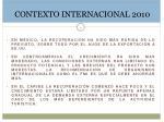 contexto internacional 20101