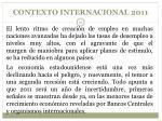 contexto internacional 2011