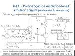 bjt polariza o de amplificadores emissor comum realimenta o no emissor