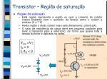 transistor regi o de satura o