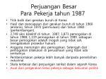 perjuangan besar para pekerja tahun 1987