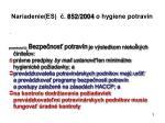 nariadenie es 852 2004 o hygiene potrav n