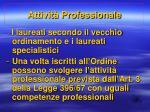 attivit professionale