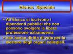 elenco speciale