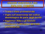 ordine nazionale dei biologi compiti