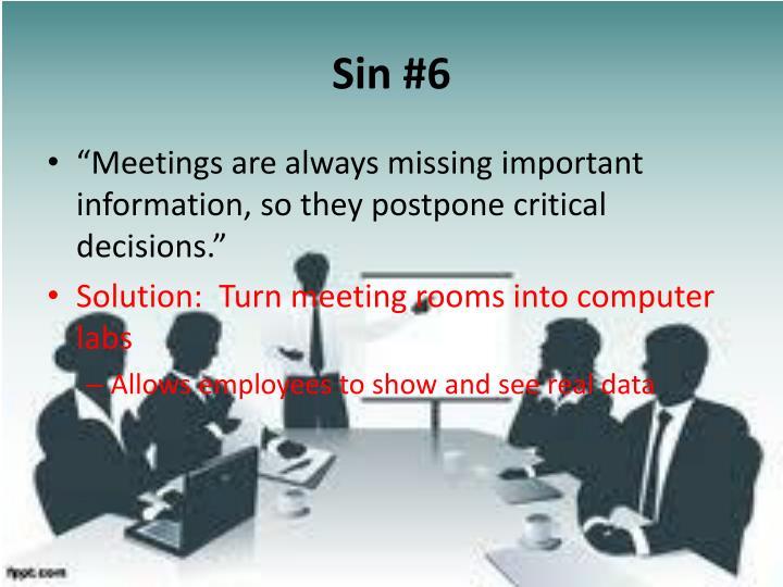 Sin #6
