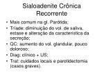 sialoadenite cr nica recorrente