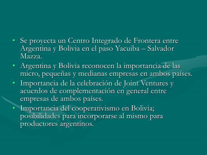 Se proyecta un Centro Integrado de Frontera entre Argentina y Bolivia en el paso Yacuiba – Salvador Mazza.
