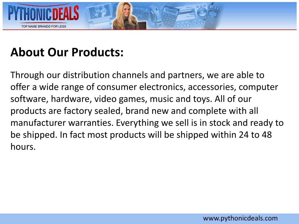 About Our Products: