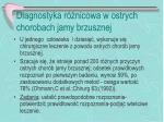 diagnostyka r nicowa w ostrych chorobach jamy brzusznej1