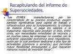 recapitulando del informe de supersociedades