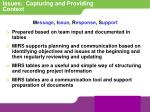 issues capturing and providing context