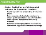 project quality plan