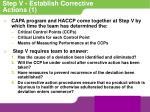 step v establish corrective actions 1