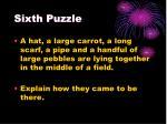 sixth puzzle