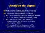 analyse du signal