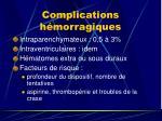 complications h morragiques